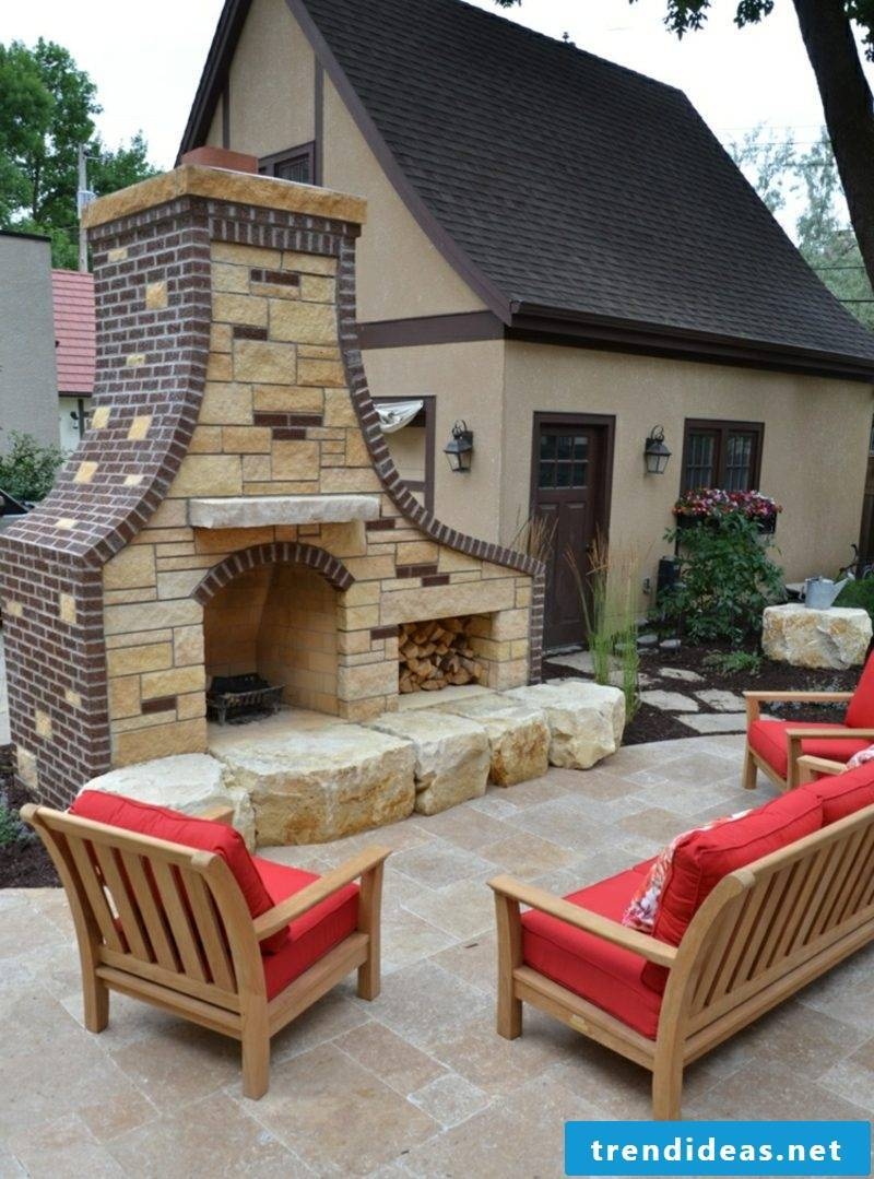 Garden fireplace build more comfort on the Tarrasse