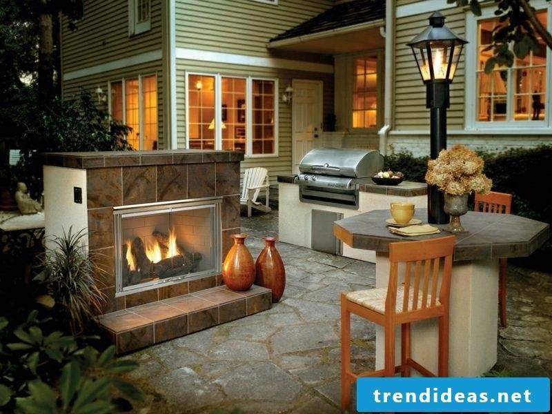 Garden fireplace build necessary materials