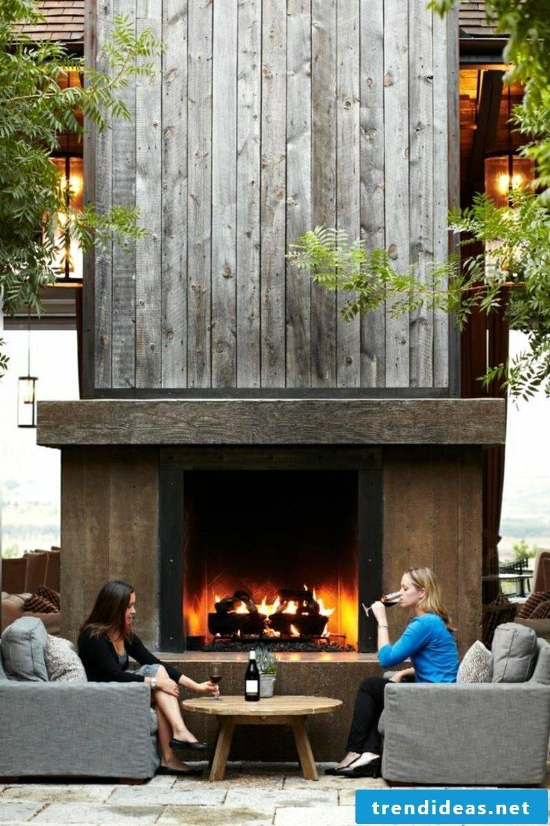 Garden fireplace to build helpful tips