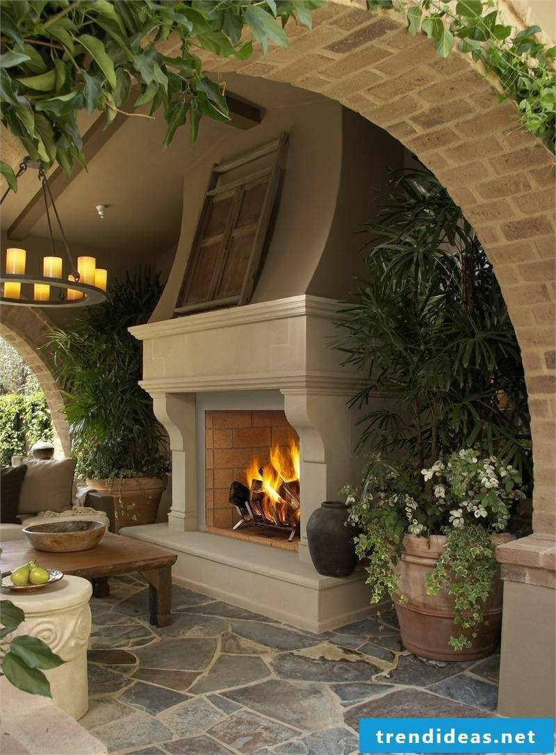 DIY landscaping garden fireplace build
