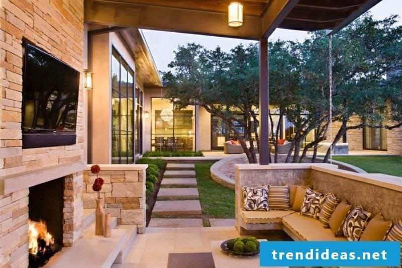 DIY ideas Garden fireplace build