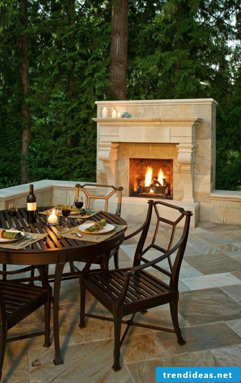 DIY garden fireplace build
