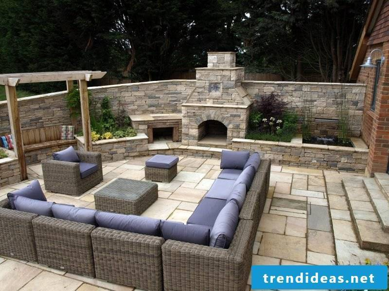 Garden Fireplace Eye Catching Outdoor Area