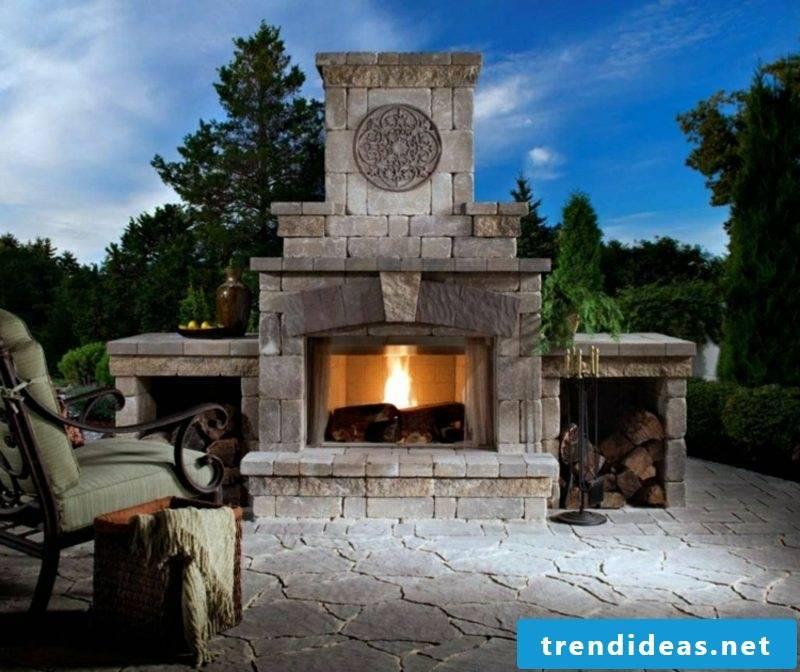 Build garden fireplace yourself