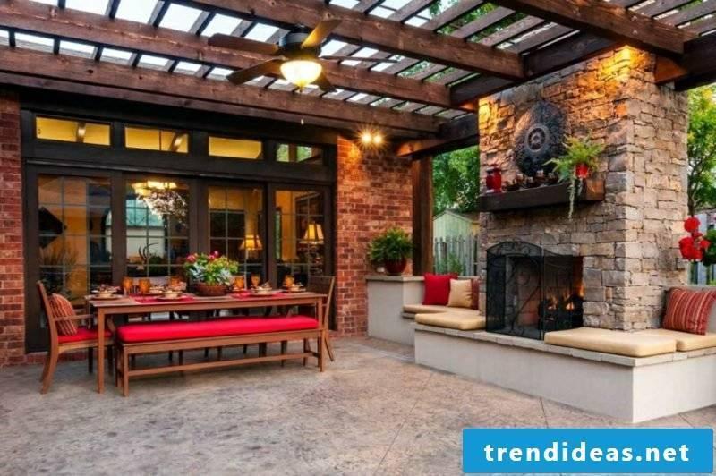 DIY ideas fireplace yourself build garden terrace