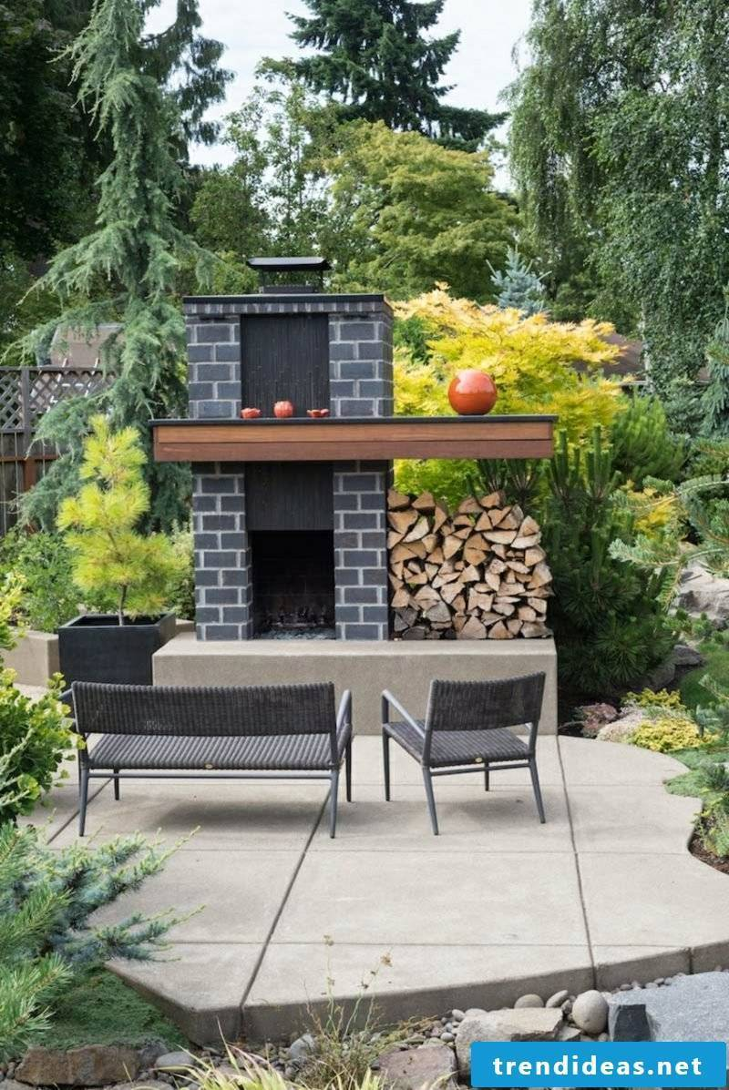 Garden fireplace build brick how are you