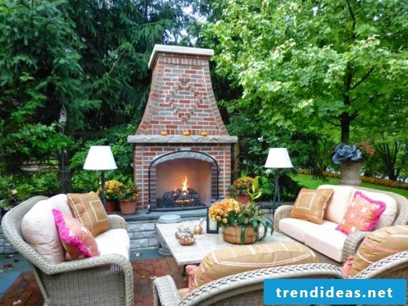 Garden fireplace build brick yourself
