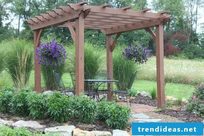 Garden design ideas pergola Japanese style