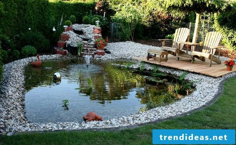 Garden design ideas decorative pond large