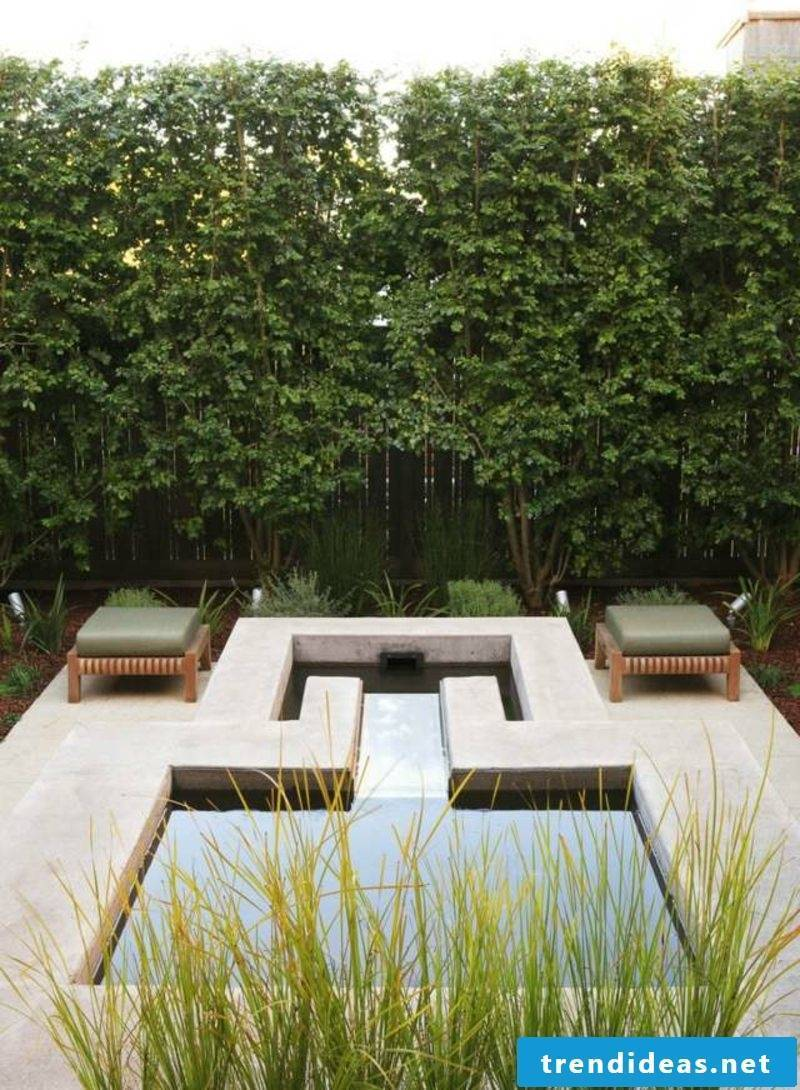 Gardening ideas pond geometric interesting look