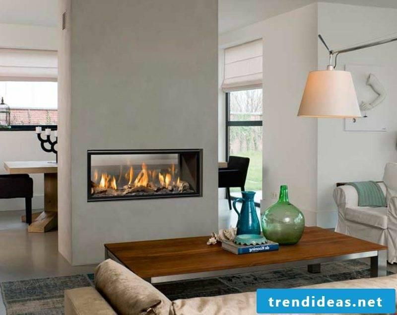 Gas fireplace insert, front fireplace, closed combustion;
