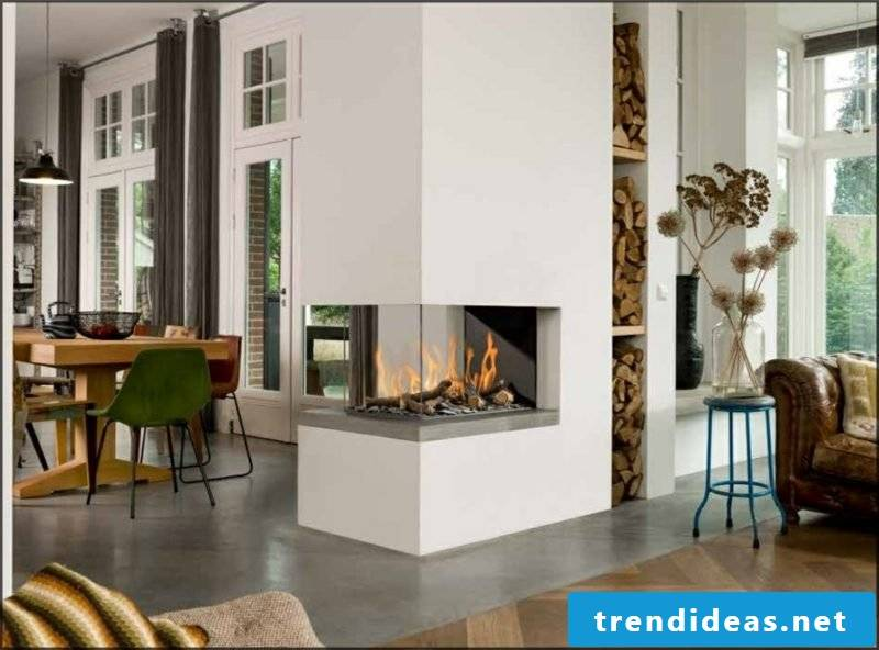 Heating power gas fireplaces