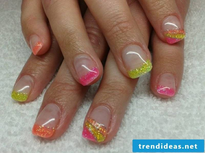 Nails French Glitter Gellac