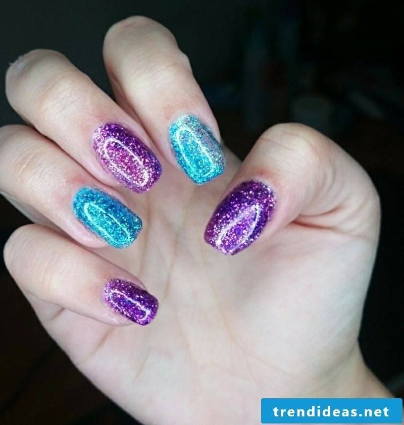 Nails modern design ideas with glitter