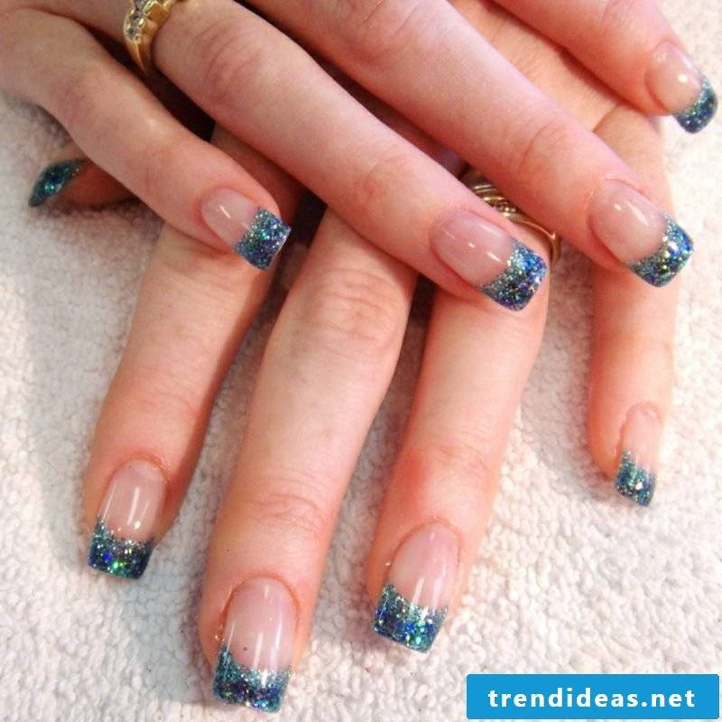 Nail art design Winter gel nails French