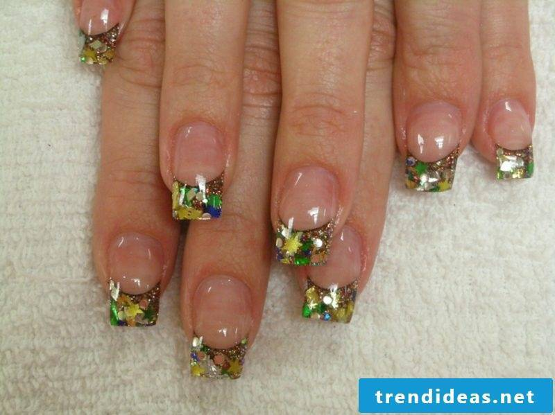 French nails gel lacquer nail art design summer 2016