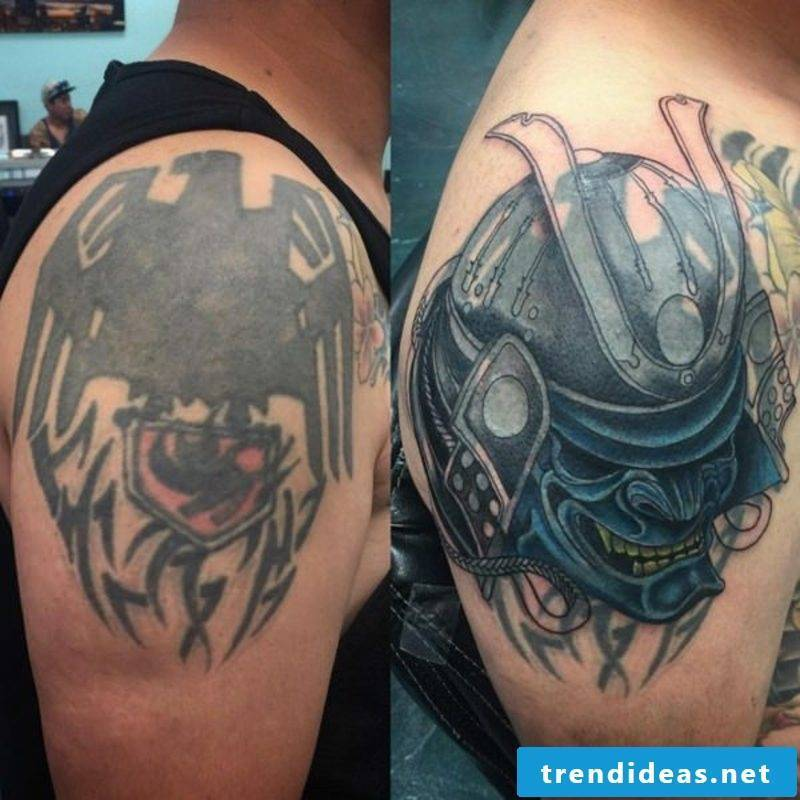 Cover up tattoo man shoulder