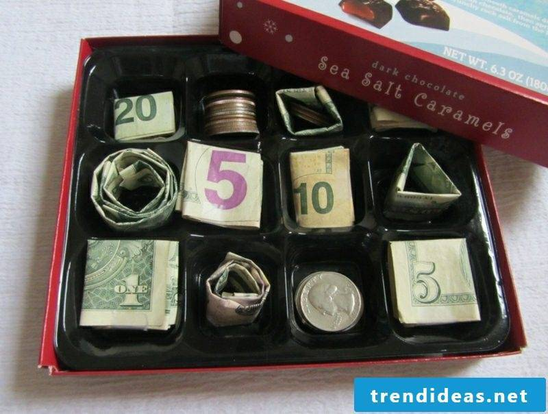 Money gifts Christmas