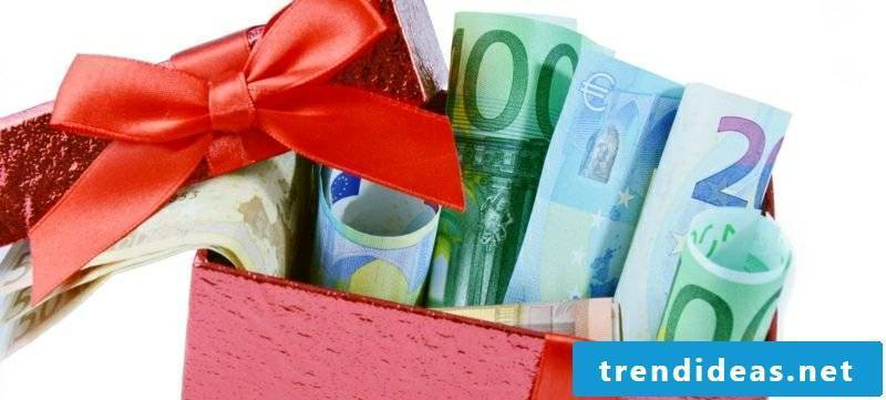 money gifts package christmas