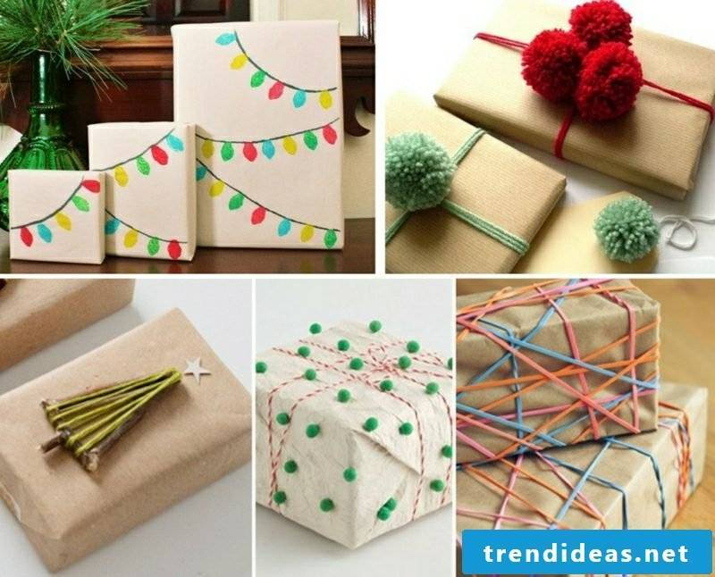 Gifts pack Christmas original ideas for copying