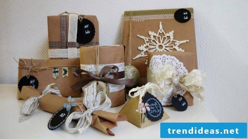 Gifts wrap Christmas original deco ideas
