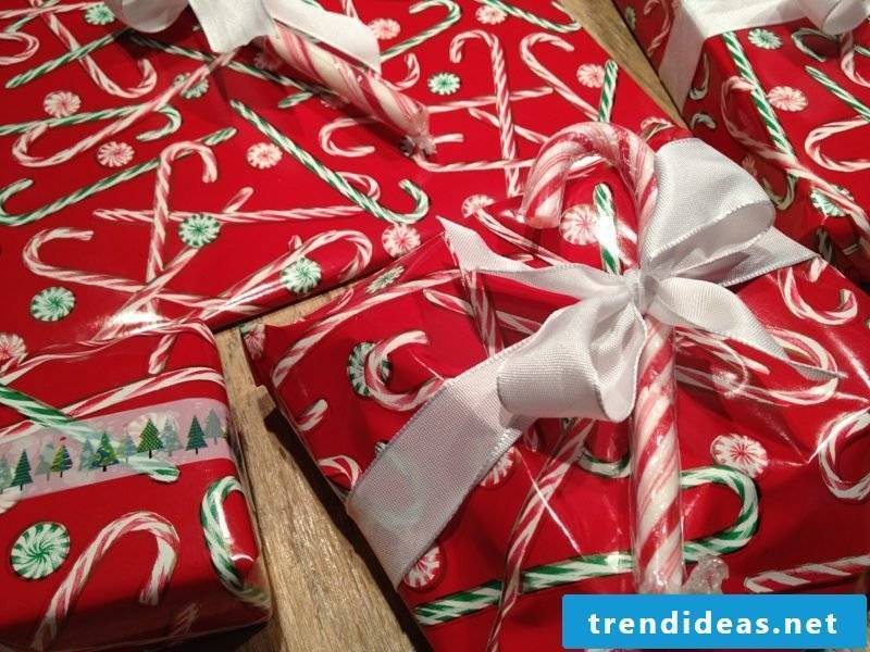 Gifts wrap wrapping paper candy canes