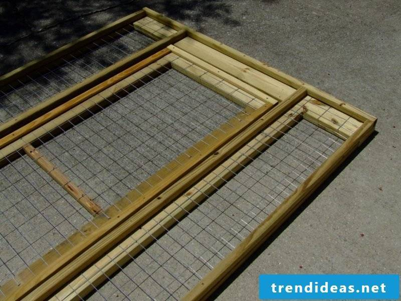 Build dog kennels yourself: Step 4