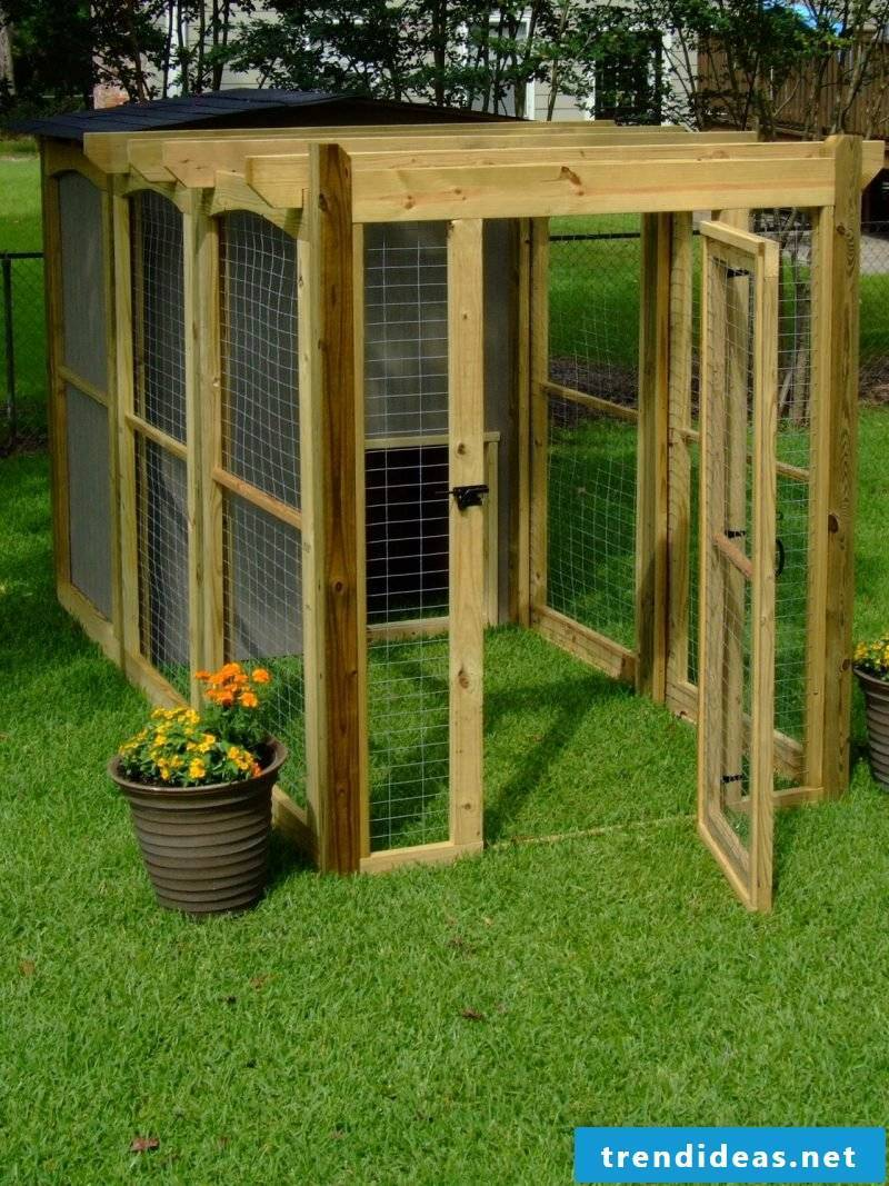 Build dog kennels yourself: Step 12