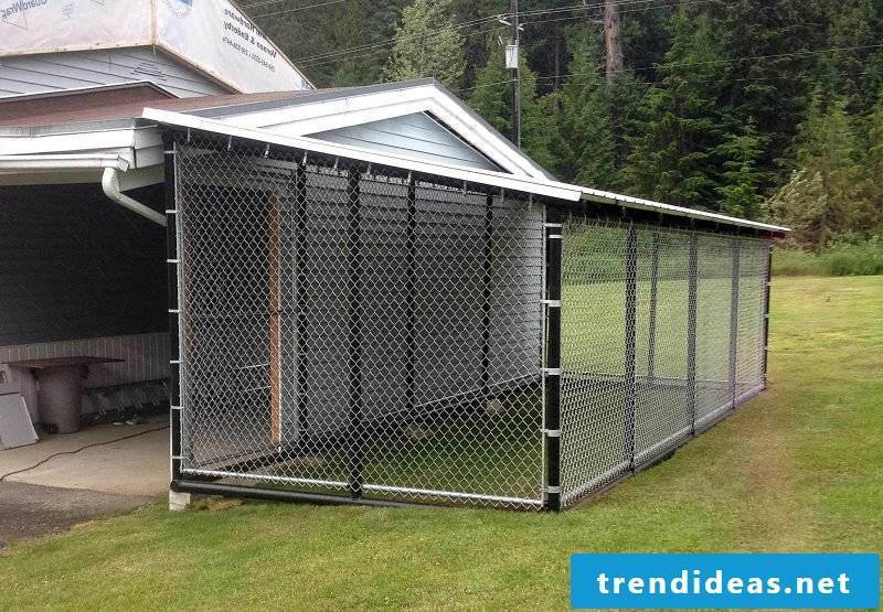 Build dog kennels yourself: Planning