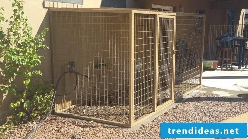 Build dog kennels yourself: dogs will be happy!