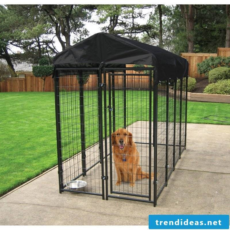 Build dog kennels yourself for the well-being of your dog!
