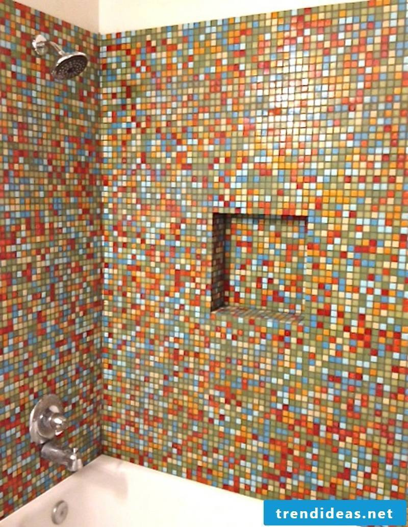 colorful mosaic tiles glass mosaic