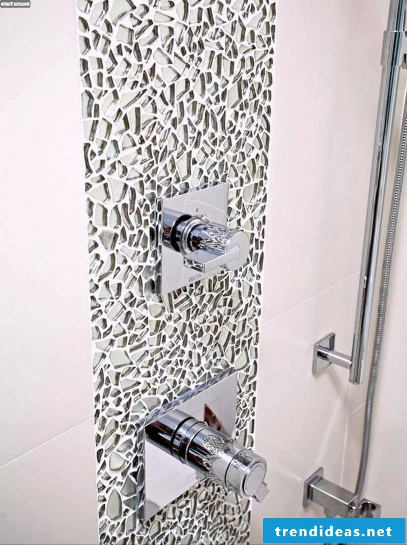 bathroom ideas made of glass mosaic