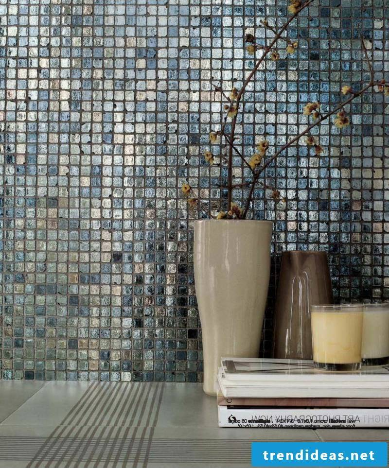 glass mosaic living room ideas