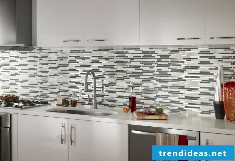 glass mosaic bright kitchen