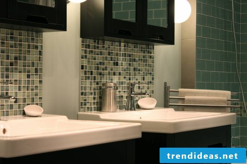 glass mosaic green