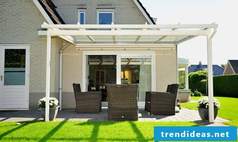 Terrace roofing glass