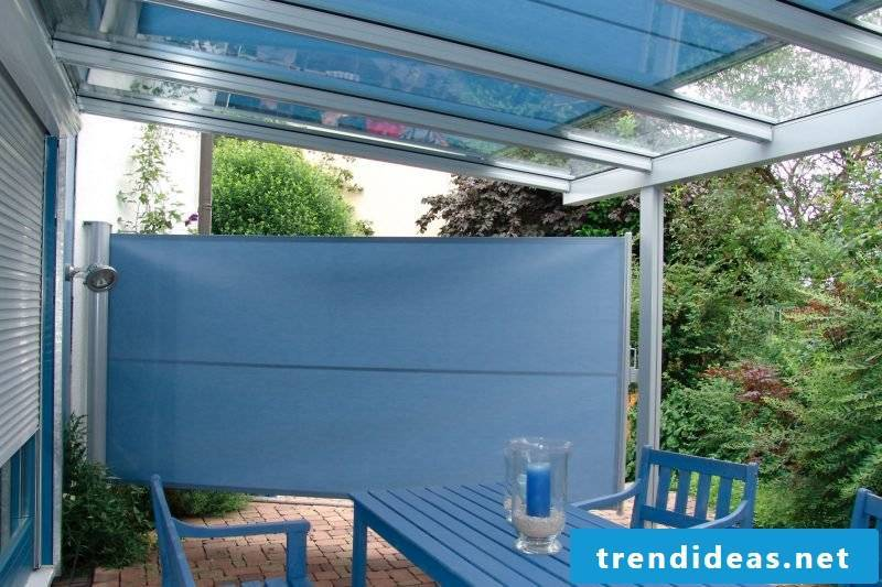 Glass roof terrace