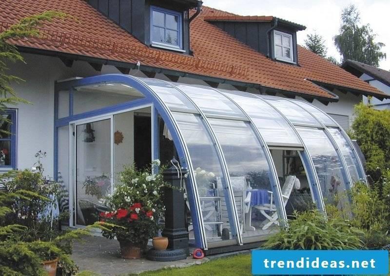 original glass roof terrace