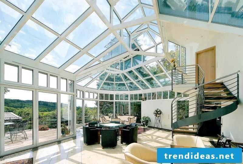 Glass roof terrace modern terrace design