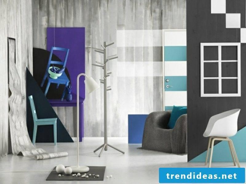 Grautöne Wandgestaltung successful color combinations