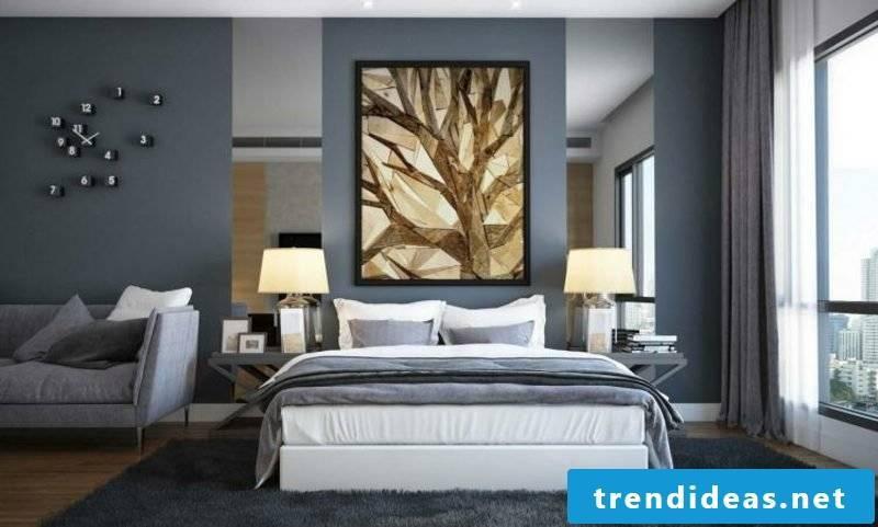 Wall colors ideas shades of gray bedroom stylish look