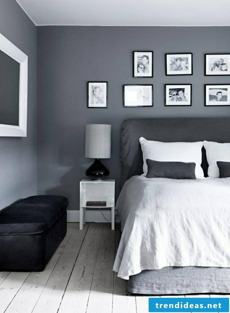Bedroom wall color Gray modern pictures