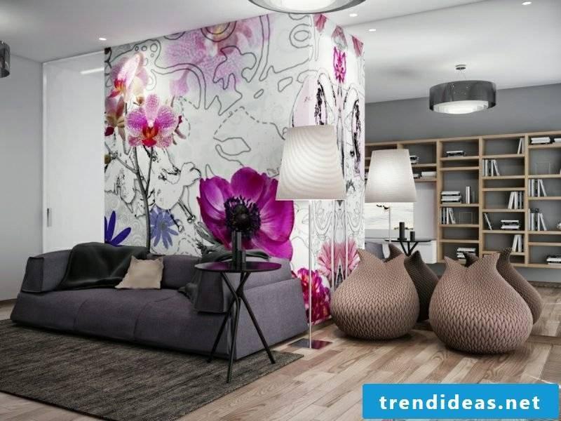 Wall colors ideas gray wall living room