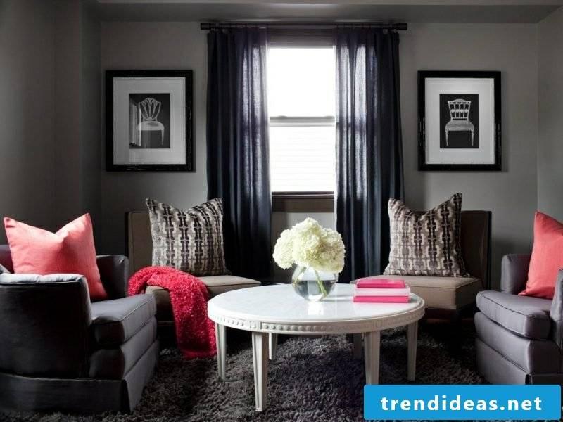 Living room gray comfortable ambience