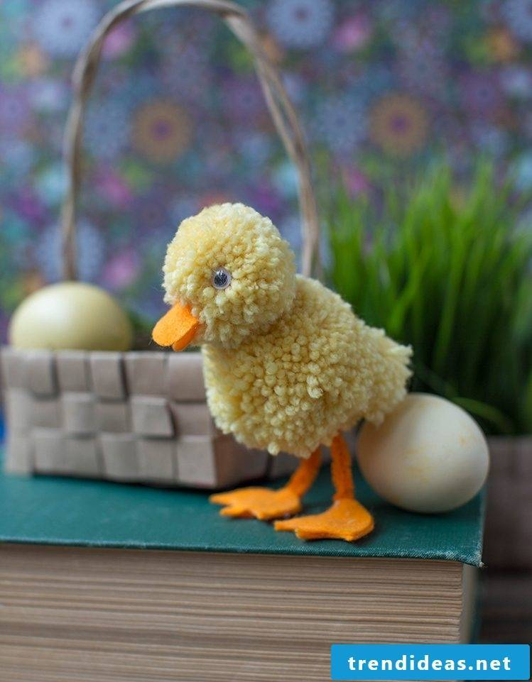 Children's Ideas for Easter - Make a wool duck