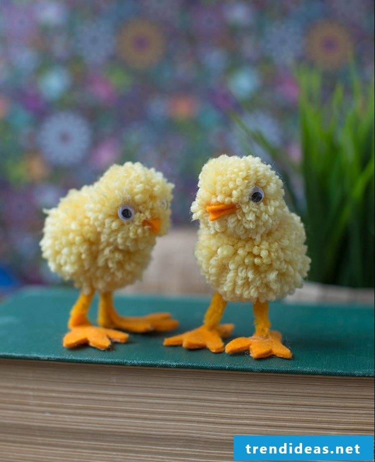 DIY Craft Ideas Easter for Kids - Design pets made of wool