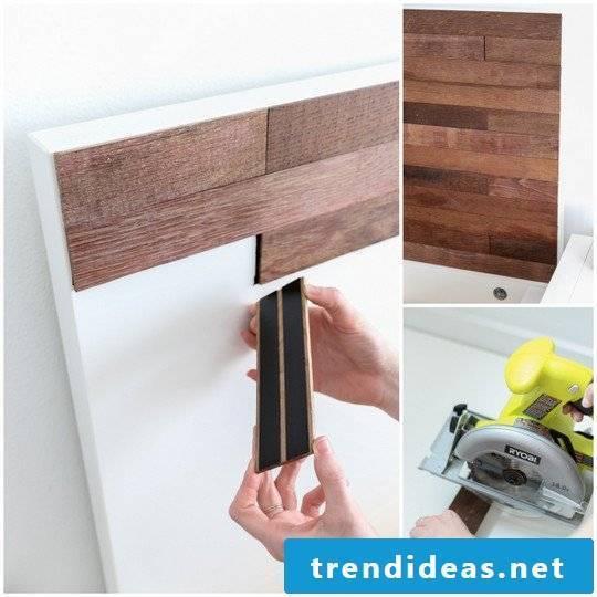Great living ideas to make yourself - Make a beautiful headboard itself