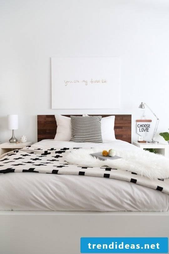 Creative and simple home-made ideas - make a beautiful headboard itself