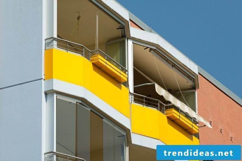 Balcony cover fabric yellow original look